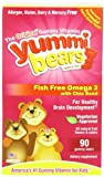 Yummi Bears Fish Free Omega 3 with Chia Seed, 90-Count Gummy Bears for Children