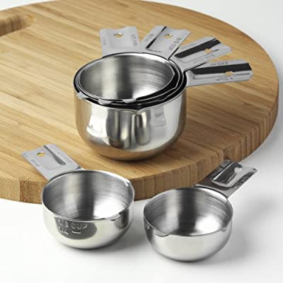 Kitchenmade Stainless Steel Measuring Cups 6 Piece Stackable Set