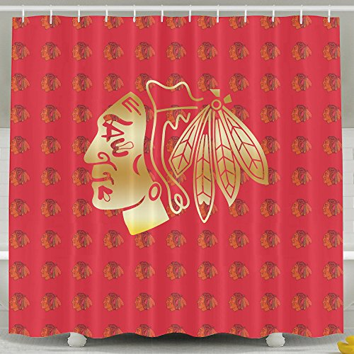Chicago blackhawks shower curtain 2