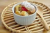 ホワイトスフレカップ <9cm> アウトレット食器/白い食器/おうちカフェ/オーブン使用可能/ココット/