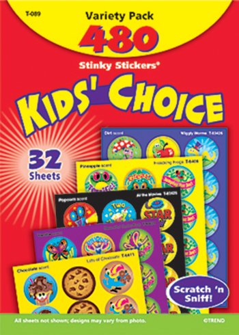 Stinky Stickers Round Super 465/Pk Saver -- Case of 3