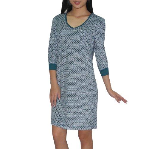 nautica-damen-gorgeous-polar-fleece-schlafanzuge-dress-nightgown-medium-grun