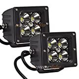 """Eyourlife a Pair 3.2"""" 20W Spot 4 LED SUV Off-road Headlight Spot Driving Fog Light With Mounting Bracket"""