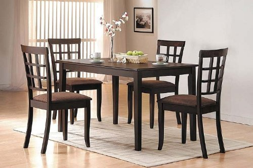 reviews of 5 pc espresso finish dining room table set christopher g