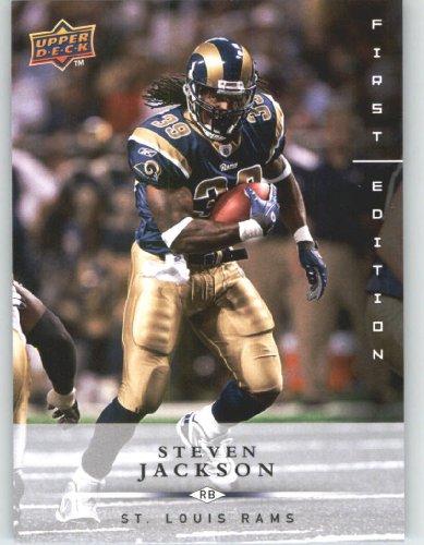 Steven Jackson St. Louis Rams 2008 Upper Deck First Edition Football Card # 132 NFL...