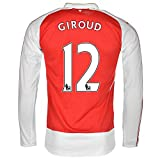 Puma Giroud #12 Arsenal Home Jersey 2015-16 Long Sleeve(Authentic name and number of player)/サッカーユニフォーム ア-セナルFC ホーム用 長袖 ジルー 背番号12 (Large)
