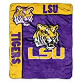 NCAA LSU Fightin Tigers 50-Inch-by-60-Inch Raschel Plush Throw