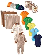 Gerber Baby-Boys Newborn Boy 19 Piece Essentials Set, Blue, 0-6 Months