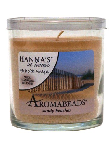 Hanna's At Home AROMABEADS Sandy Beaches 5.5oz Candle