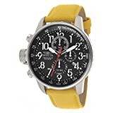 Invicta Force Lefty Men's Quartz Watch with Black Dial Chronograph Display and Yellow Nylon Strap 11518