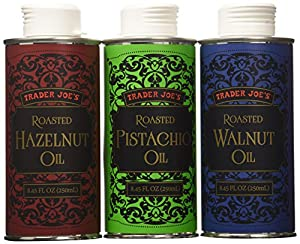 Trader Joe's Trio of Roasted Nut Oils Gift Set: Hazelnut; Pistachio; Walnut