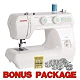 Janome 2212 12 Stitch FullSize Freearm Sewing Machine, 860SPM & FREE BONUS PACKAGE