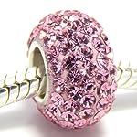 Pro Jewelry 925 Sterling Silver Birthstone June Lt Pink Crystal Bead