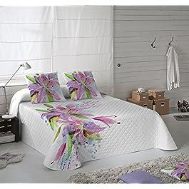 NATURALS Colcha Multipunto LILY FLOWERS cama para entretiempo (Cama 135)