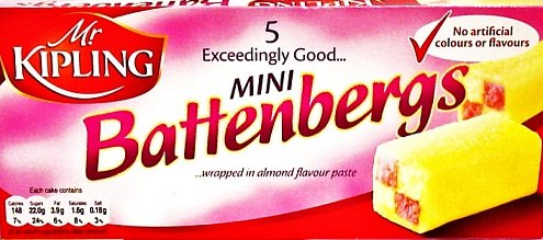 Mr Kipling Mini Battenberg Cake 5pk