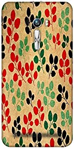 Snoogg Seamless Pattern With Leaf Designer Protective Back Case Cover For Asu...