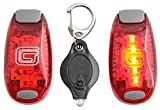 2 Pack Clip on LED Safety Lights + FREE Dog Light + FREE Bonuses - Night Strobe Flash Lights for Walking Running Cycling, Kids, Bikes, Helmets and Reflective Gear. Great offer with so many Extras!