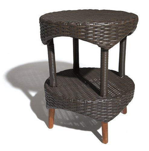 Strathwood Cypress All-Weather Wicker Bistro Table, Brown