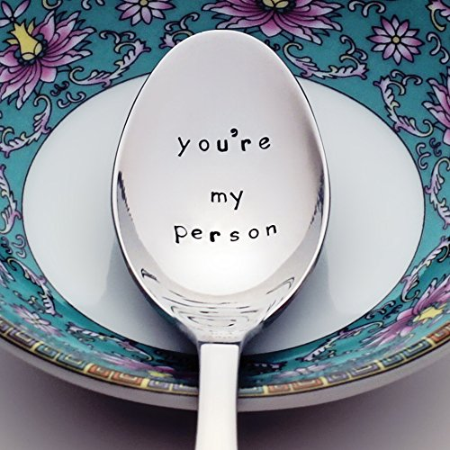 You're My Person - Stamped Spoon, Stamped Silverware for Her - Unique Birthday Gift (Cold Cake Display compare prices)