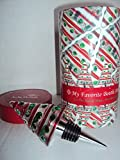 MoMo Panache Candy Cane Bottle Stopper Chrome Finish