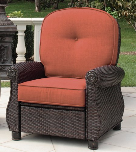 Best deal with breckenridge recliner brick by la z boy for Best deals on outdoor patio furniture