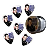 Tom DeLonge Blink 182 6 X Celluloid Guitar Pick in Tin ( Flag Design )