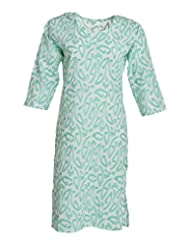 Global Women's Cotton Straight Kurta (GW43Green40015, Green, 40)