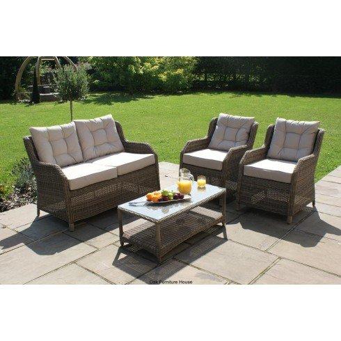 Dorset Rattan Gartenstuhl, mit hoher Rückenlehne, 2-Sitzer-Sofa online kaufen