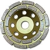 """KENT Economy Quality 5"""" Grit 70~80 Double Row Diamond Grinding Wheel, 7/8"""" Arbor"""