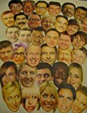 20 x Mixed Celebrity Masks Wholesale Party Supplies Celebrities Face Mask Hen and Stag Parties Fancy Dress
