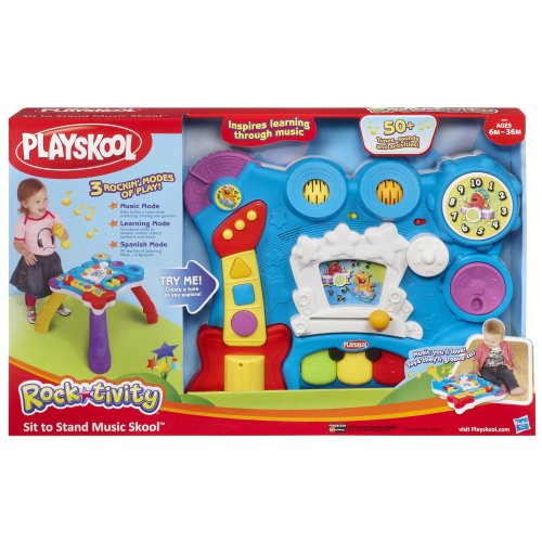 Playskool Musical Toys : Playskool rocktivity sit to stand music skool toy