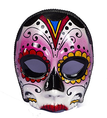 Day Of Dead Mask Female With Eyeglass Frame Attach 73641