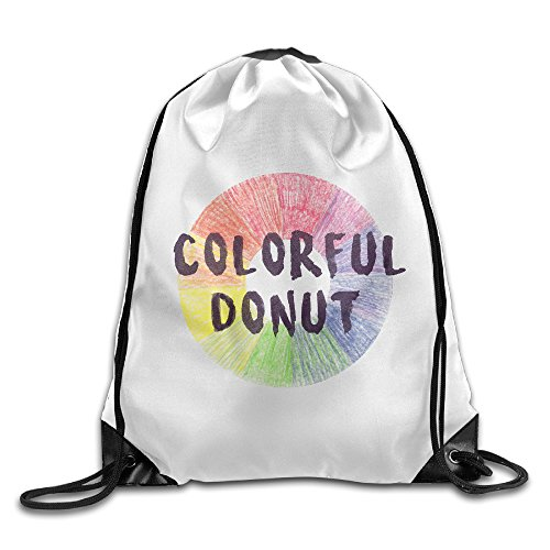 custom-string-tote-bag-light-durable-polyester-colorful-donut-for-outing
