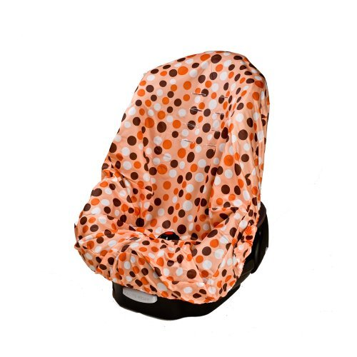 Wupzey Baby Infant and Toddler Waterproof Car Seat Cover - Orange Polka Dots