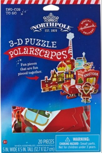 Hallmark Northpole PolarScapes 3D Puzzle Sno-Coa To Go