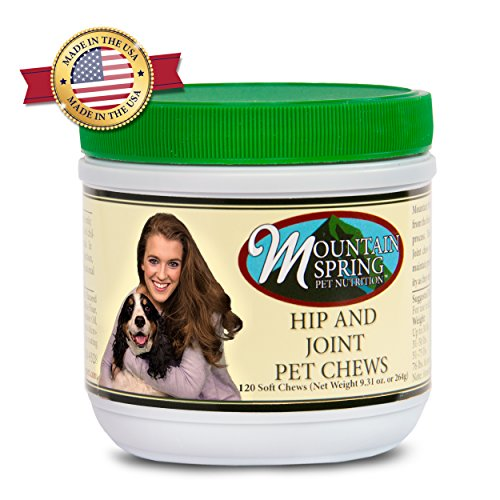Mountain Spring Pet - Hip and Joint Dog Vitamin Soft Chew Supplement Treats (120