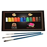 Acrylic Paint Set 12 Colors by Crafts 4 ALL Perfect for Canvas, Wood, Ceramic, Fabric. Non Toxic & Vibrant Colors. Rich Pigments Lasting Quality for Beginners, Students & Professional Artist (Tamaño: 12 x 12ml)