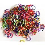 Ateam Loom Bandz, Gummibänder in verschiedenen Farben, 600 Stück, inklusive 25 Klammern Mixed color black