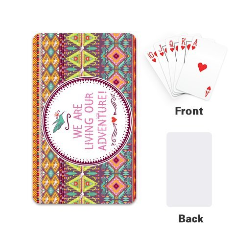 Custom Aztec Print Playing Cards Design With Single Side 2.1x 3.5 W-PC156
