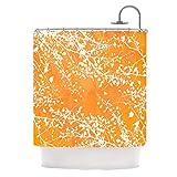 """Kess InHouse Iris Lehnhardt """"Twigs Silhouette Orange"""" Tangerine Shower Curtain, 69 by 70-Inch"""