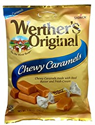 Werther\'s Original Chewy Caramels, 5.0-Ounce Bags (Pack of 12)