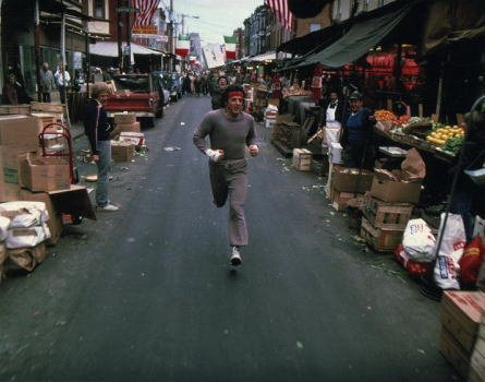 ブロマイド写真★シルベスター・スタローン/『ロッキー』トレーニングで街中を走る/【ノーブランド品】