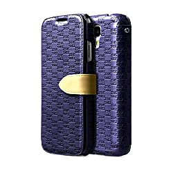 ZENUS Masstige Love Craft Diary Style Italian PU Leather Samsung Galaxy S4 Case (Navy Blue)
