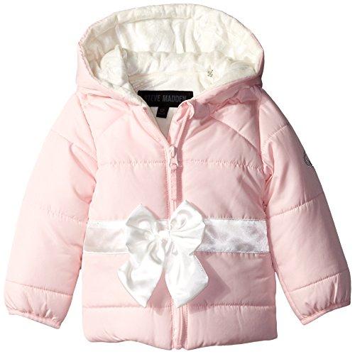 53c42be9650c Steve Madden Baby-Girls Infant Pearlized Pongee Puffer Jacket ...