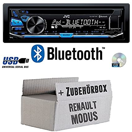 Renault Modus - JVC KD-R871BT - Bluetooth CD/MP3/USB Autoradio - Einbauset