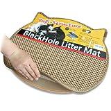 Blackhole Cat Litter Mat - Headshape 57.5cm X 52.5cm - Litter Tray Mat (Beige)