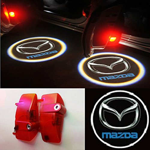 2X Door Led Courtesy Shadow Ghost Lamp Projector Light For 2010 2011 2012 2013 Mazda 6 M6