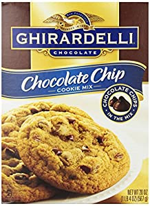 Ghirardelli Chocolate Chip Cookie Mix, 20-Ounce Boxes (Pack of 12)