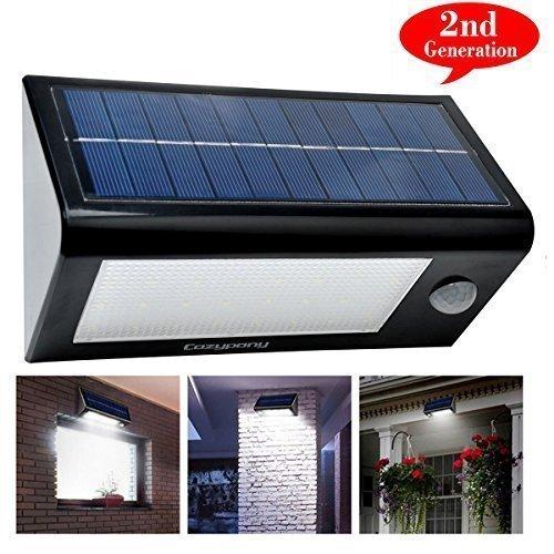 Chollo: [actualización 32 LED] Luz LED de energía solar y sensor de movimiento de Cozypony 550