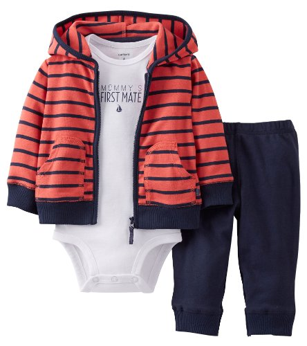Carter's Baby Boys' 3 Piece Cardigan Set (Baby) - Red - 12 Months
